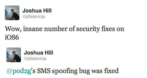 P0sixninja iOS 6 Security Fixes