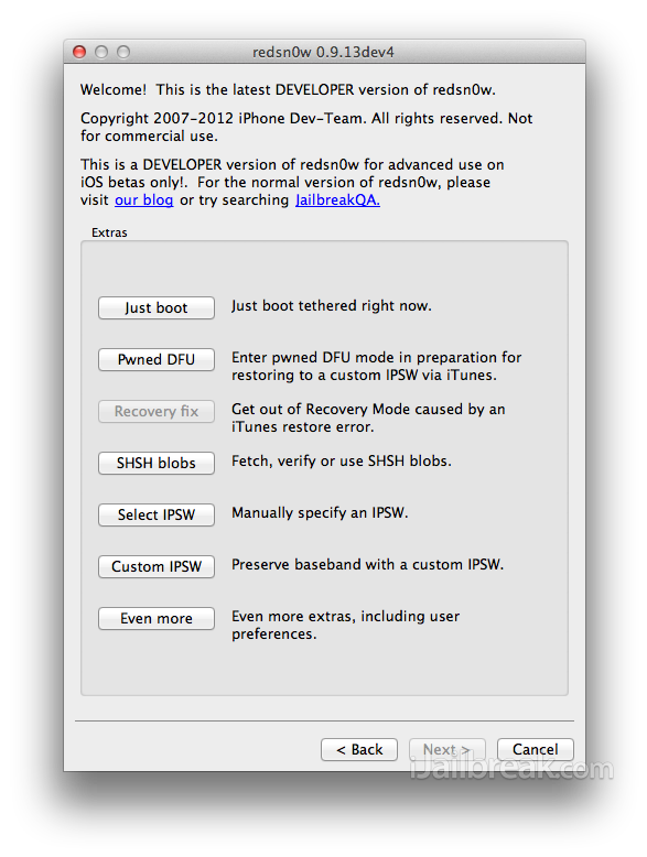 RedSn0w 0.9.13dev4 Mac OS X How To