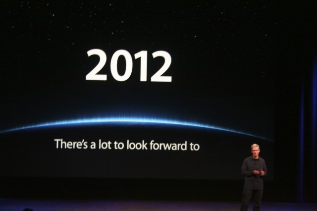 "Tim Cook ""2012 there's a lot to look forward to"""