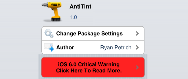 AntiTint Cydia Tweak
