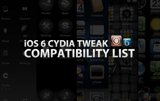 iOS 6 Cydia Tweak Compatibility List