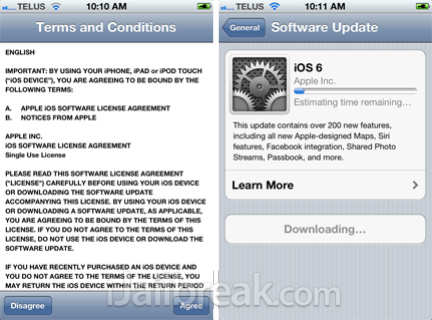 iOS 6 Update Process