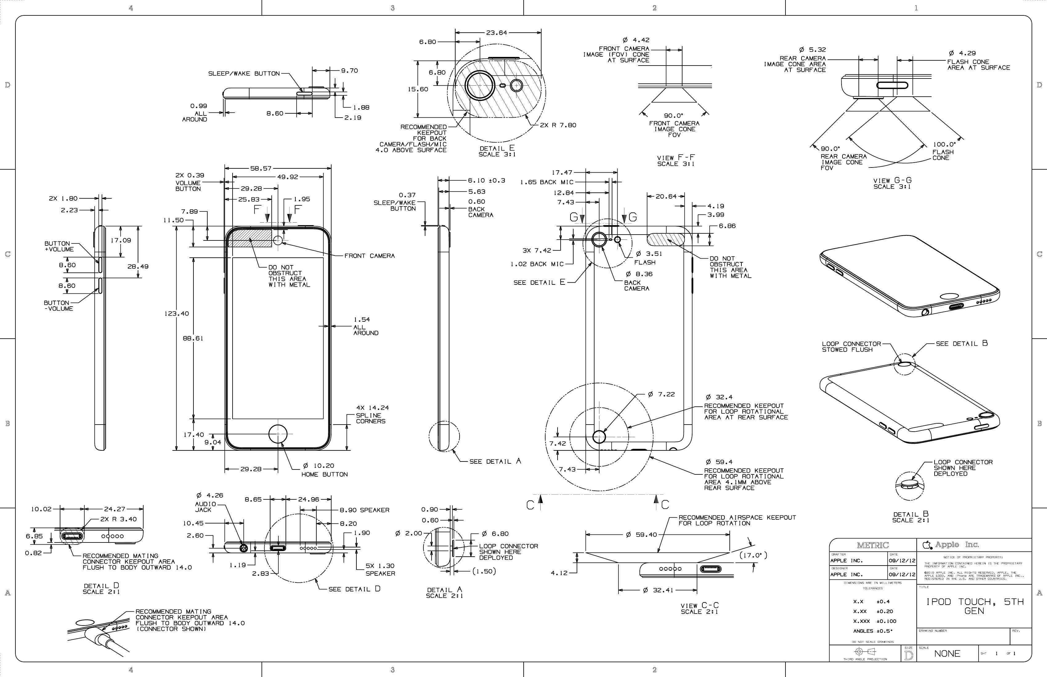 Ipad Design Specs Case Design Specs For 5th Gen
