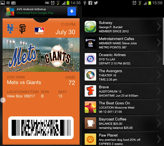 Get The PassBook App On Android WIth The PassWallet (APK) App