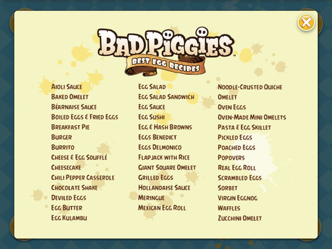 Bad Piggies Cookbook App