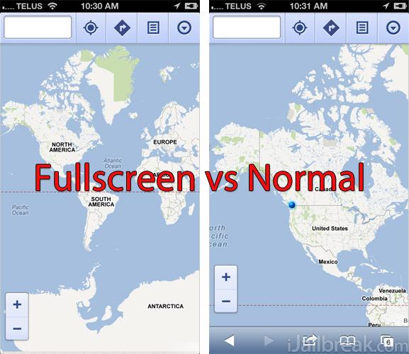 Google Maps Nokia Maps Fullscreen