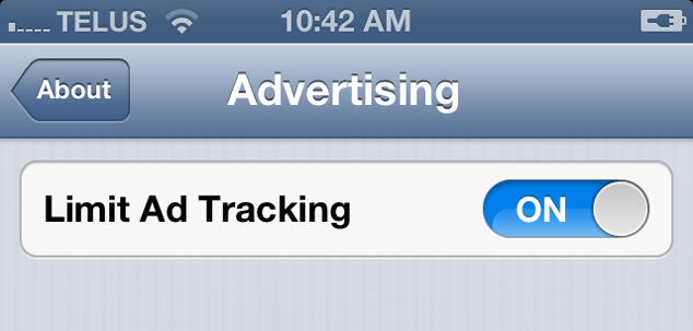 How To Disable Ad Tracking iOS 6