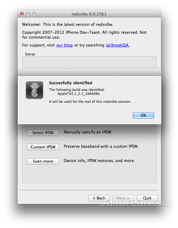 Jailbreak Apple TV 2G iOS 6 RedSn0w v0.9.15b1