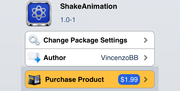 ShakeAnimation Cydia Tweak