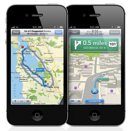 iOS 6 Maps 5 Timers Better Google Maps In Data Consumption
