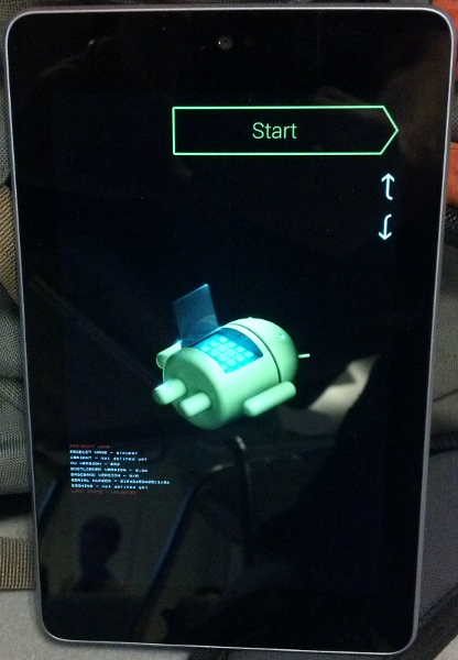 restart bootloader nexus 7