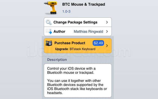 BTC Mouse & Trackpad Cydia Tweak