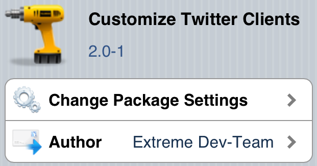Customize Twitter Clients Cydia Tweak