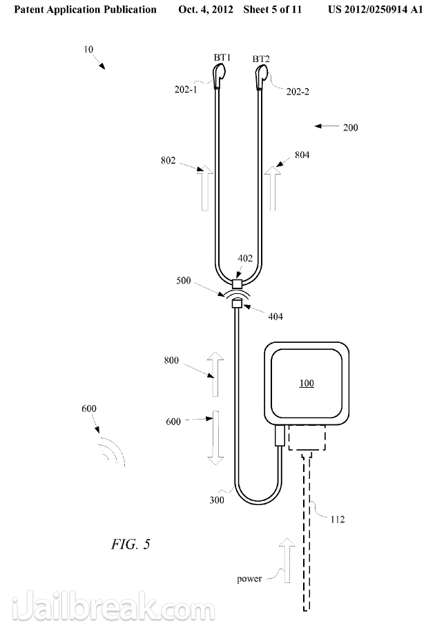 Apple Patents Hybrid Wireless Bluetooth Earbuds
