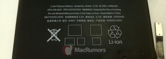 Purported iPad Mini Battery Photos Leaked