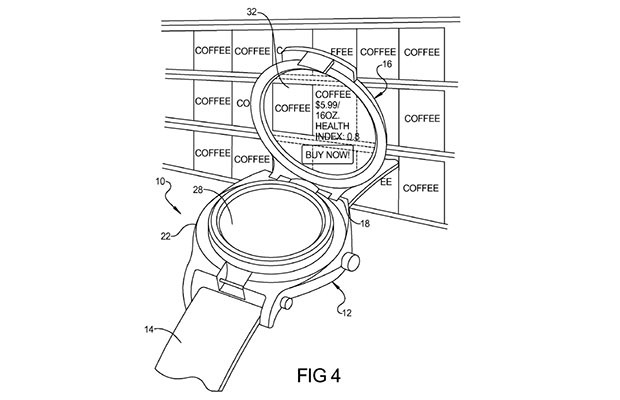 Google Patents Smart Watch With Transparent Touchscreen
