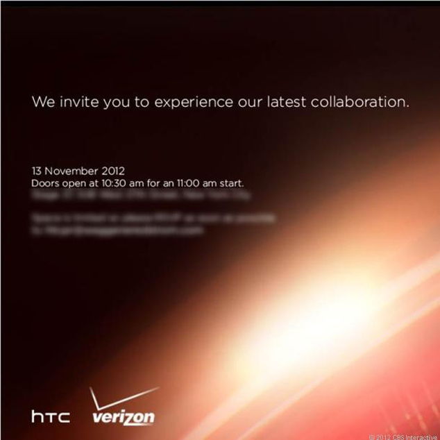 HTC And Verizon November 13 Event