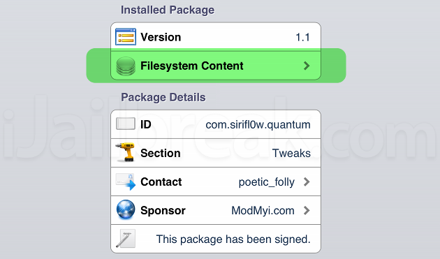 How To Check What A Cydia Package Is Modifying
