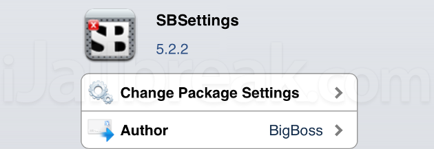 SBSettings Cydia Tweak