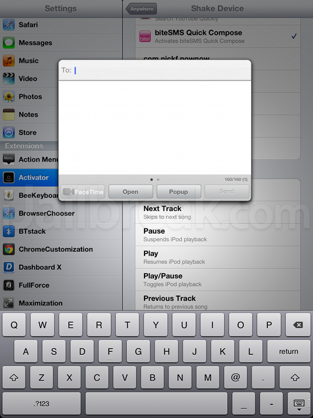 BiteSMS Cydia Tweak
