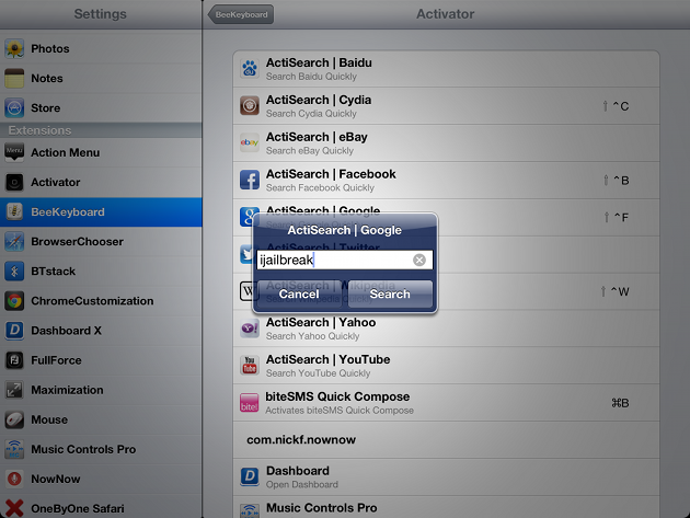 ActiSearch Cydia Tweak
