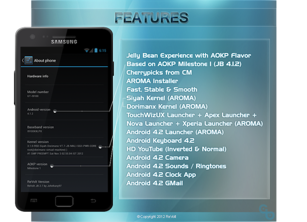How To Install ReVolt Jelly Bean ROM On Galaxy S2 GT-i9100 [GUIDE]