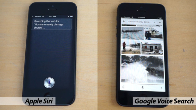 Siri vs Google Voice Search