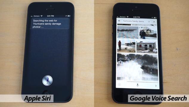 Siri vs Google Voice Search