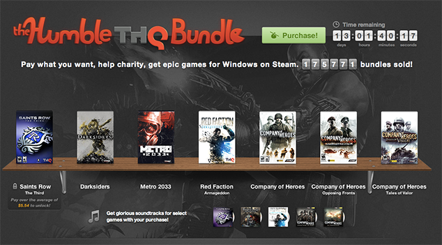 Humble THQ Bundle Now Live: Saints Row 3, Metro 2033, Darksiders