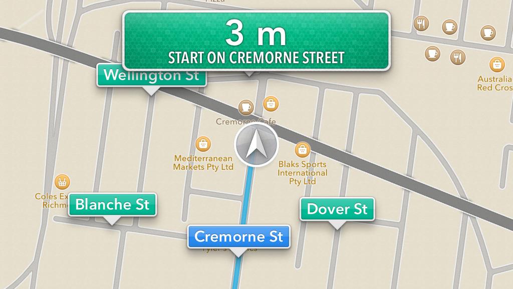 directions map australia: