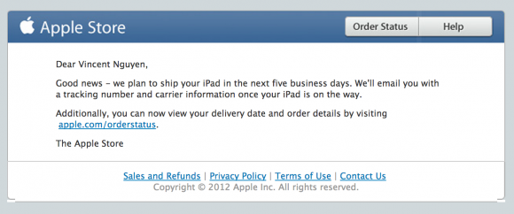 iPad Mini WiFi Cellular Shipping Date