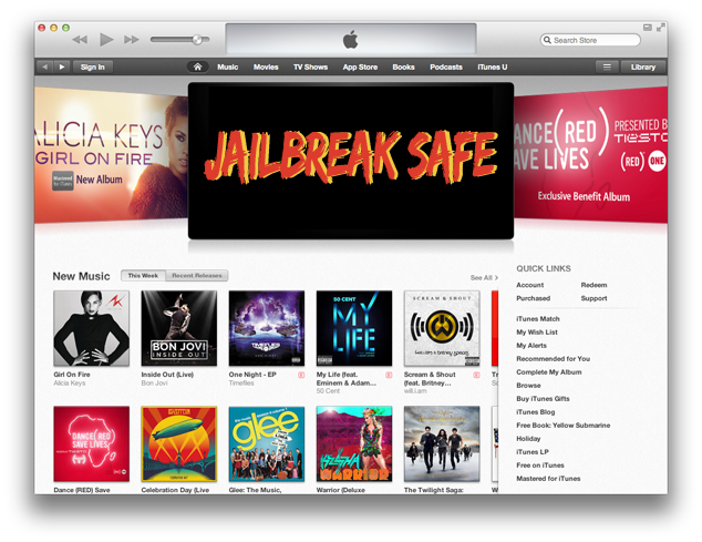 iTunes 11 Jailbreak Safe