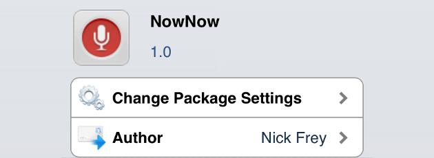 NowNow Cydia Tweak