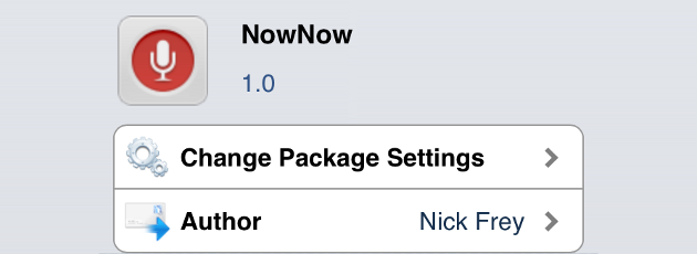 NowNow Cydia Tweak
