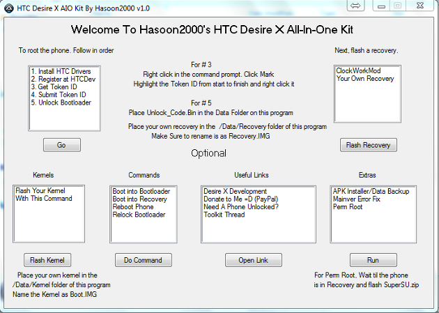 Root HTC Desire X With All-In-One Toolkit (One Click) [How To]