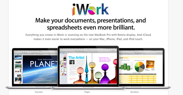 Apple iWork Suite Updated
