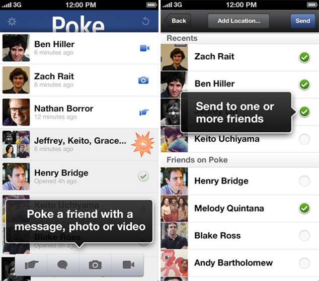 Facebook Poke Released For iOS