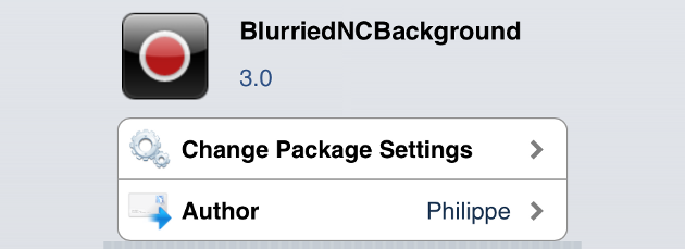 BlurriedNCBackground 3.0 iOS