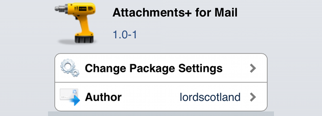 Attachments+ For Mail iOS Cydia Tweak
