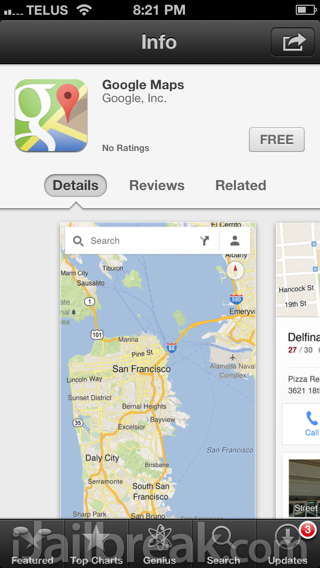 Official Google Maps App Released In The Apple App Store