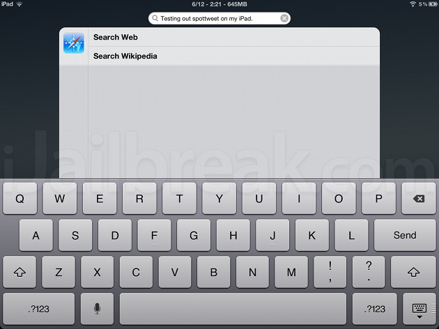 SpotTweet Cydia Tweak