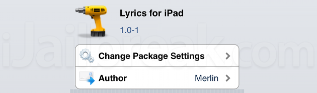 Lyrics For iPad iOS Cydia Tweak