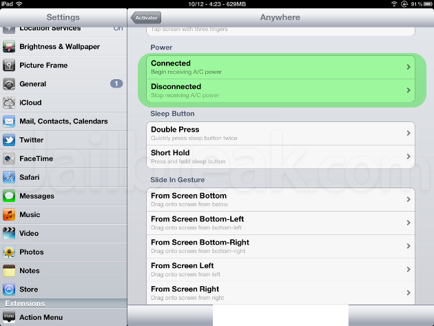 Activator Cydia Tweak