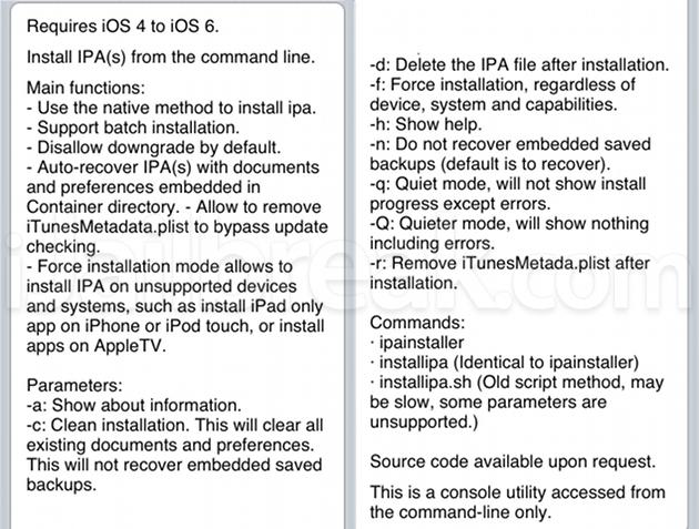 IPA Installer Console Cydia Utility