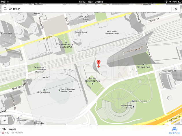 FullForce Tweak Google Maps On iPad