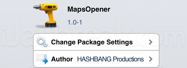 MapsOpener Cydia Tweak
