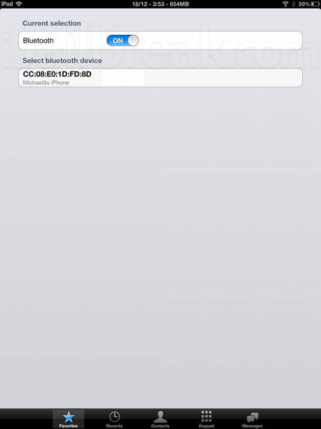 iBTPhone iOS