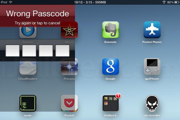 Folder Passcode iPad