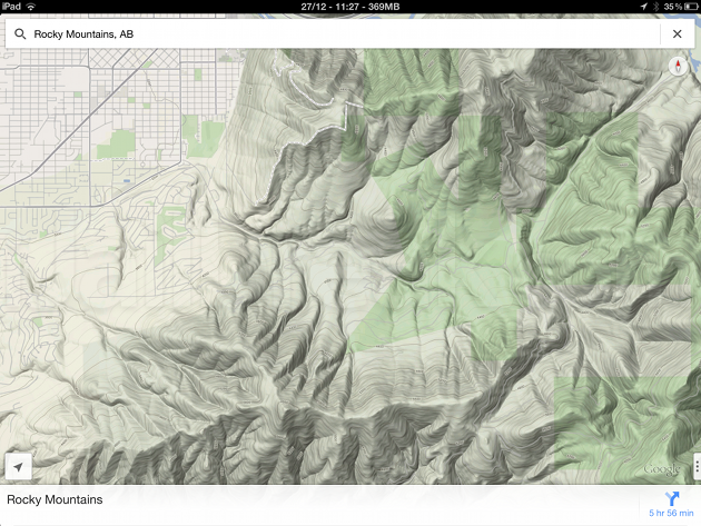 How To Enable Hidden Topography View In Google Maps App For IOS - Topo maps app for iphone