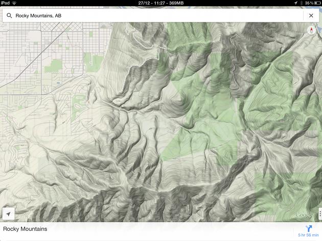 Topography for Google Maps Cydia Tweak